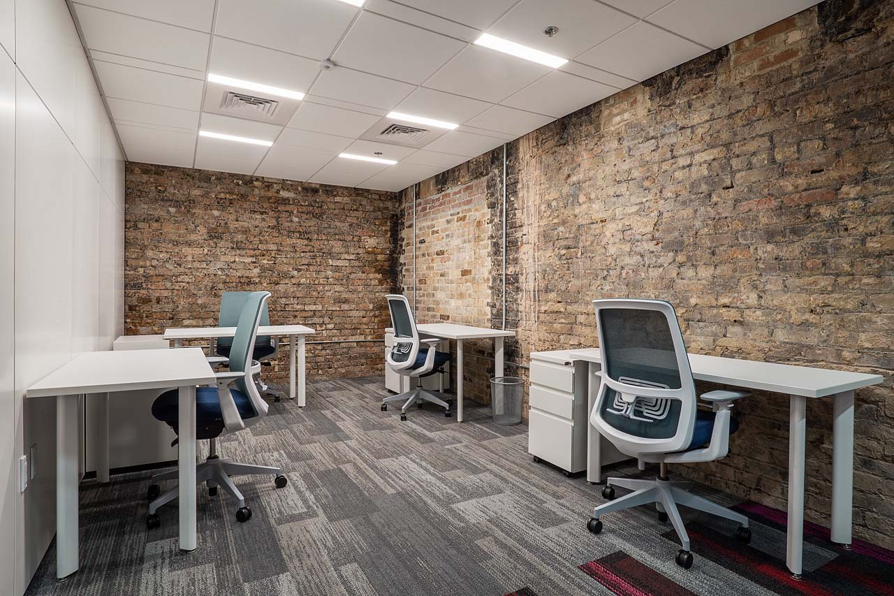 An office with four desks